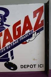 Butagaz Double Side Enamel Advertising Sign
