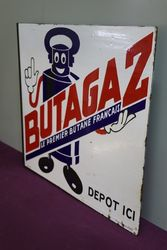Butagaz Double Side Enamel Advertising Sign