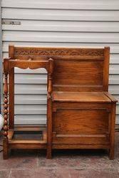 C1920and39s Oak Hall Seat Stick Stand