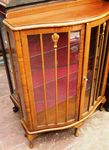 C20th Century Bowfront 2 Door Display Cabinet