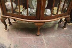C20th Century Bowfront 2 Door Display Cabinet