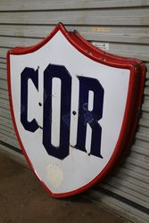 COR Commonwealth Oil Refineries  BP Enamel Advertising Sign
