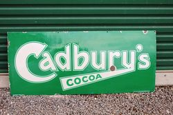 Cadburys Enamel Advertising Sign