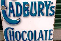 Cadburys Enamel Advertising Sign