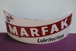 Caltex Marfak Curved Petrol Pump Enamel Sign