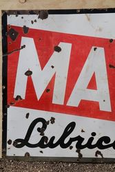 Caltex Marfak Lubrication Enamel Advertising Sign