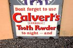 Calverts Tooth Powder Pictorial Enamel Sign