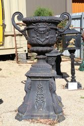 Capri Cast Iron Urn And Base
