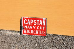 CapstanWestward Ho Post Mont Enamel Sign
