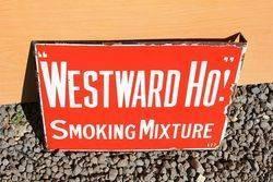 CapstanWestward Ho Post Mont Enamel Sign