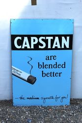 Capstan Cigarettes Pictorial Enamel Advertising Sign