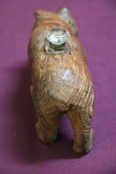 Carved Bear InkWell