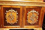 Carved Mahogany 2 Door Bookcase