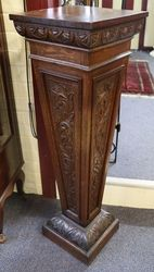 Carved Oak Pedestal English C1900