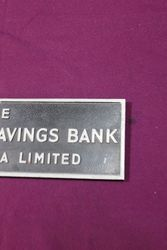 Cast Alloy Commercial Savings Bank Sign