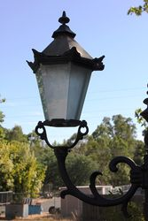 Cast Iron 2 Branch Garden Lamp