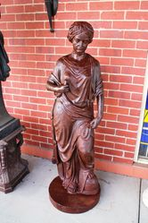 Cast Iron Female Garden Statue