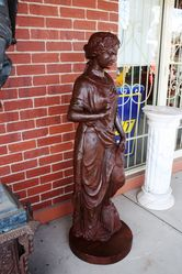 Cast Iron Female Garden Statue