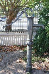 Cast Iron Fluted Garden Well Pump