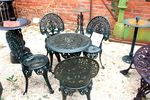 Cast Iron Green 5 Piece Garden Setting.