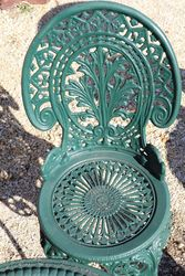 Cast Iron Green 5 Piece Garden Setting