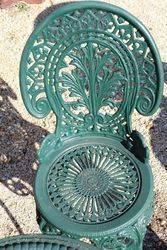 Cast Iron Green 5 Piece Garden Setting
