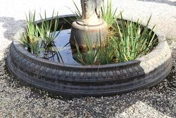 Cast Iron Heron 3 Tier Water Fountain + Pond