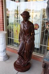Cast Iron Neoclassical Maiden Garden Statue