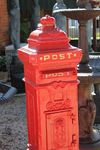 Cast Iron Post    letter Box