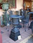 Cast Iron Table Chairs and Urns --- GF 28