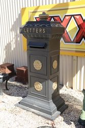 Cast Iron Top  of the Range Post    Letter Box