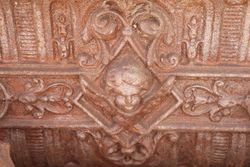 Cast Iron Trough Planter on 4 Figure Bases