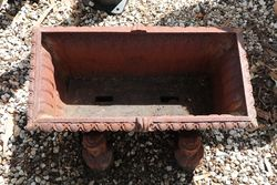 Cast Iron Trough Planter on 4 Figure Bases
