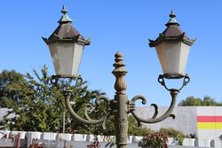 Cast Iron Tudor 2 Branch Garden Lamp