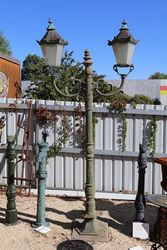 Cast Iron Tudor 2 Branch Garden Lamp