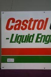 Castrol GTX Liquid Engineering Aluminium Advertising Sign