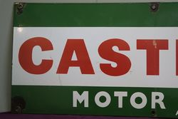 Castrol Motor Oil Patented Enamel Advertising Sign