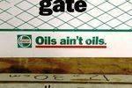 Castrol Please Shut This Gate Original Tin Sign
