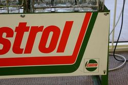 Castrol Tin Fronted Sign 12 Oil Bottle Rack