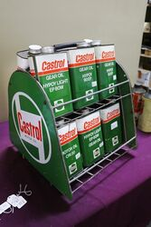 Castrol Z Double Sided Oil Tin Forecourt Rack