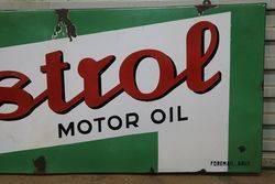 Castrol Z Motor Oil Enamel Advertising Sign