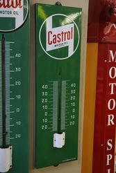 Castrol andquotZandquot Enamel Advertising Thermometer Sign
