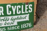 Centaur Cycles Enamel Strip Sign