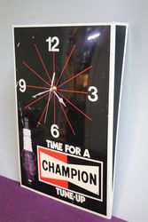Champion Clock Sign