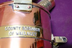 Checkpump Copper and Brass Bound 5 Litre Petrol Measure
