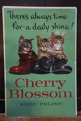 Cherry Blossom Boot Polish Pictorial Tin Sign