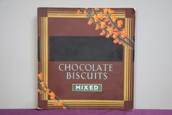 Chocolate Biscuits Mixed Card Advertising