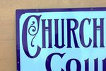 Churchmans Counter Shag Tobacco Enamel sign
