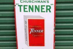Churchmans Tenner Cigarette Enamel Sign