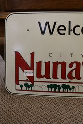 City Of Nunawading Aluminum Sign